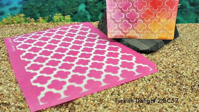 Beadcomber Silk Screen - Turkish Delight  II opposites Silkscreen Design BC57