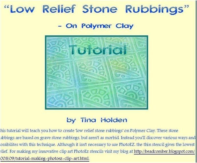 Beadcomber Silk Screen - Silkscreen - Art Deco design - Polymer Clay, paper and