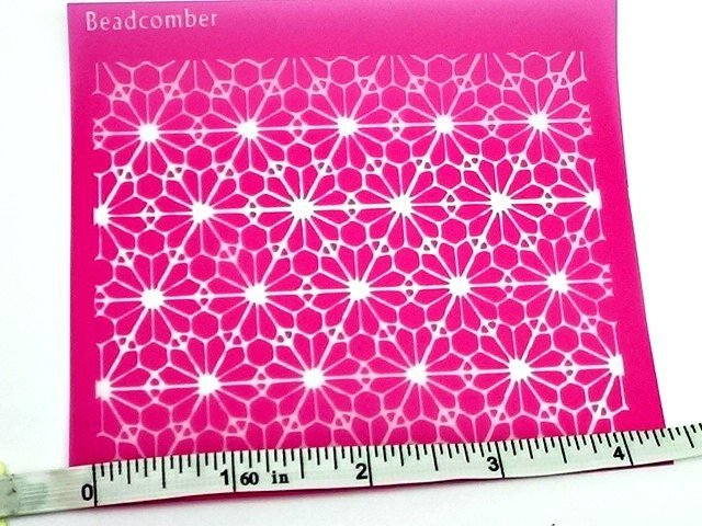 Beadcomber Beadcomber Silk Screen - Geometric Silkscreen for Polymer clay,