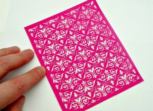 Beadcomber Silk Screen - Damask2 Silkscreen for Polymer clay, or flat surfaces