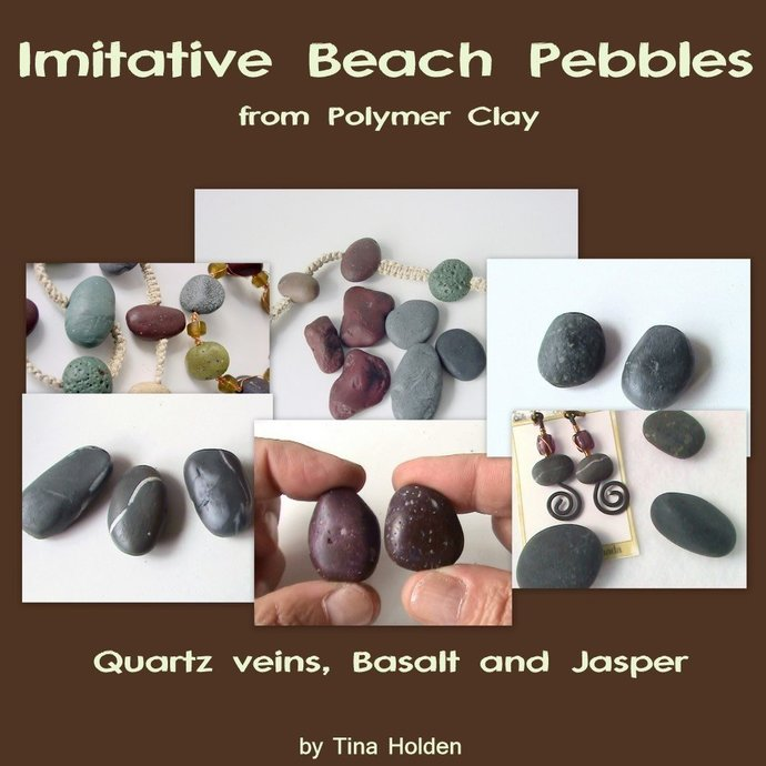 Imitative Beach Pebbles Series - 1st in a Series - Basalt, Quartz veins, Jasper