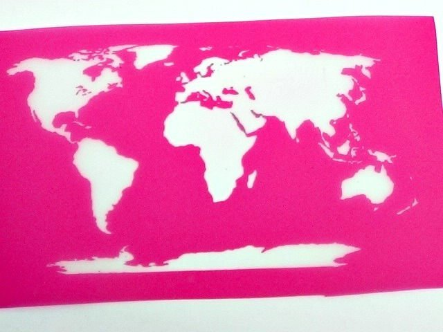Beadcomber Silk Screen - World Map Silkscreen - for fabric, glass, ceramics,