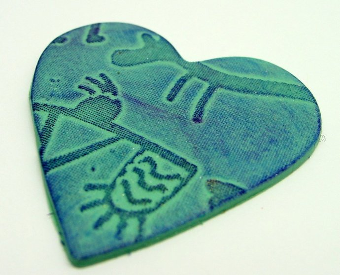 Beadcomber Silk Screen - Petroglyph Silkscreen for Polymer clay and Crafts and