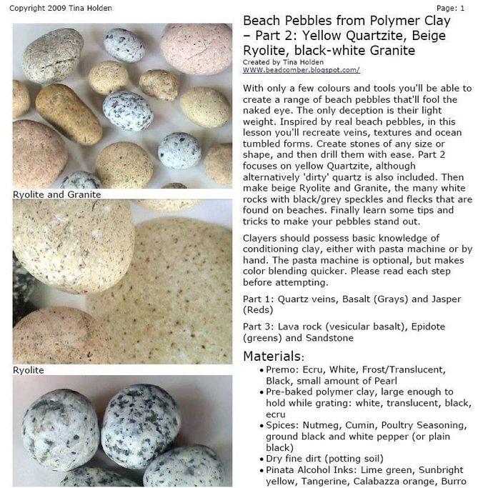 Imitative Beach Pebbles PT.2 Ryolite, Granite, Quartz - Polymer Clay Tutorials -