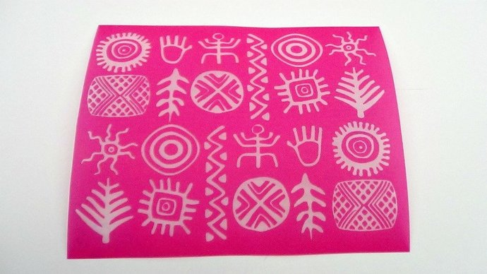 Beadcomber Silk Screen - Tribal Silkscreen for Polymer clay, Paper Crafts,