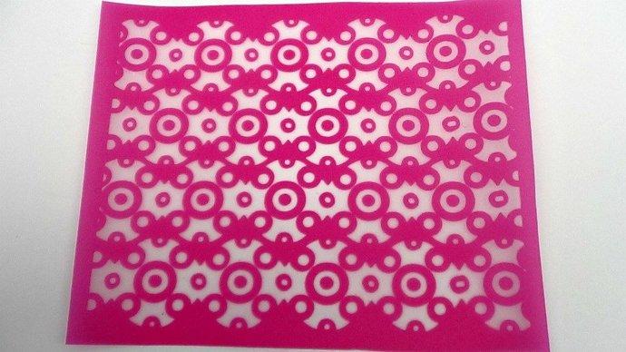 Beadcomber Silk Screen - Dots n Circles Silkscreen for Polymer clay, Paper