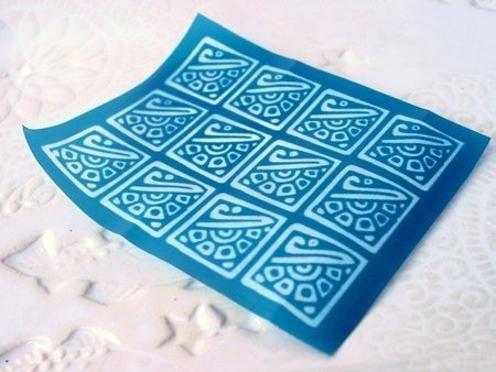 Beadcomber Silk Screen - Ancient or Mayan Design Silkscreen for Polymer clay,