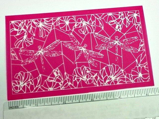 Beadcomber Silk Screen - Dragonflies Silkscreen for Polymer clay, or flat