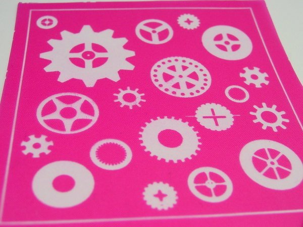 Beadcomber Silk Screen - Gears and Cogs Silkscreen for Polymer clay and Crafts