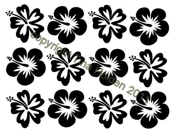 Beadcomber Silk Screen - Small 17 mm flowers -  Hawaiian Hibiscus Silkscreen for