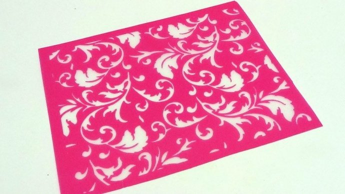 Beadcomber Silk Screen - Floral Tapestry Silkscreen for Polymer clay, Paper