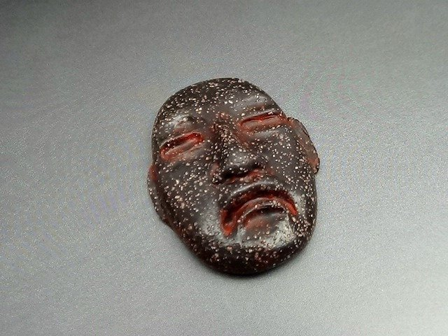 Primitive Artifact Face - Pre Columbian style - Art Doll Face - faux or