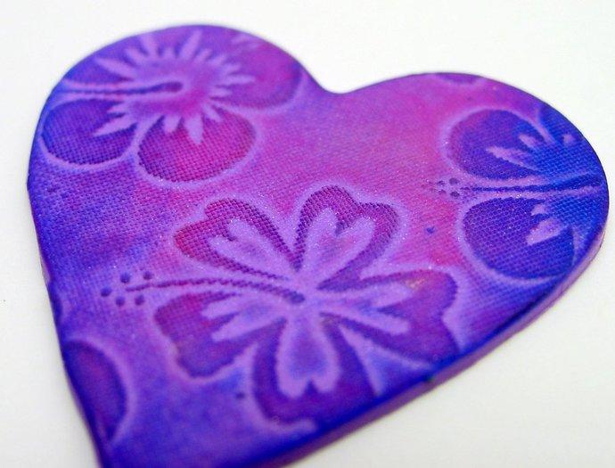 Beadcomber Silk Screen - Large 1 inch Flowers - Hawaiian Hibiscus Silkscreen for