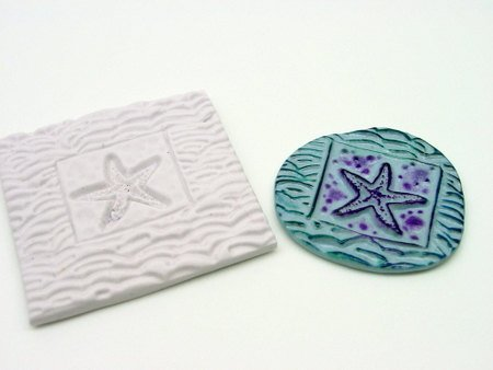 Sea Star Mold with Waves Texture tool - Polymer Clay