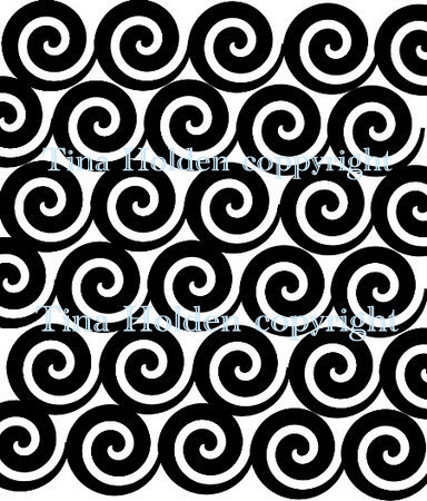 Beadcomber Silk Screen - Spirals - Swirls Silkscreen for polymer clay, paper,