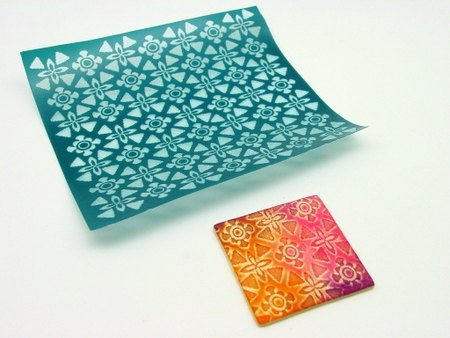 Beadcomber Silk Screen - Floral Kawaii Silkscreen for Polymer clay and Crafts