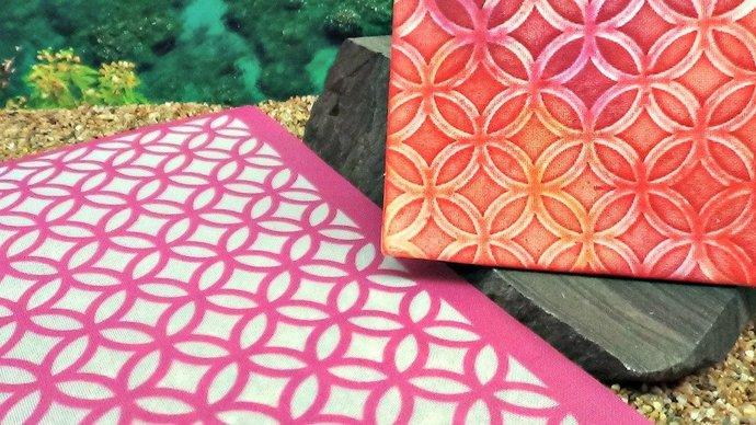 Beadcomber Silk Screen - Circles and Diamonds II opposite Silkscreen Design BC58