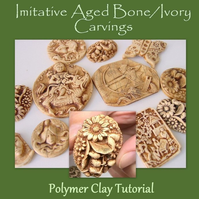 Imitative Bone and Ivory Carving - no Carving tools required - Polymer Clay