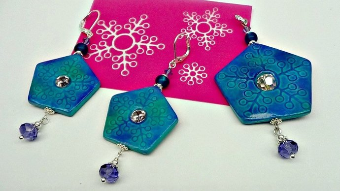 Silkscreens by Beadcomber - 3 Small Lace Stars designs - great for Earrings,