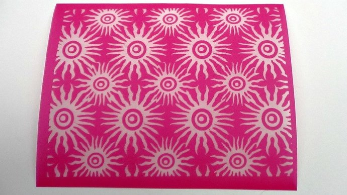Beadcomber Silk Screen - Sea Urchin Silkscreen for Polymer clay, Paper Crafts,