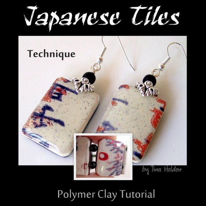 Japanese or other Tile Prints - Polymer Clay Tutorial - Digital PDF File -