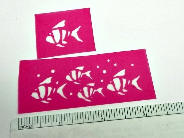 Beadcomber Silk Screen - School of Fish and Fish Silkscreen - for Polymer Clay,