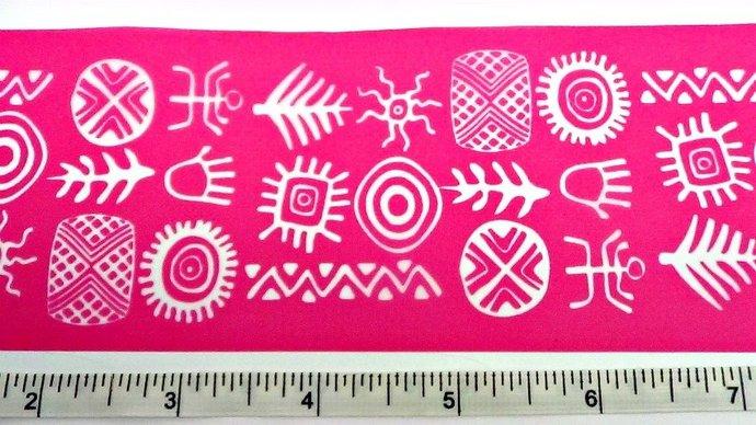 Beadcomber Silk Screen - Long Bracelet Cuff Tribal Silkscreen - for polymer