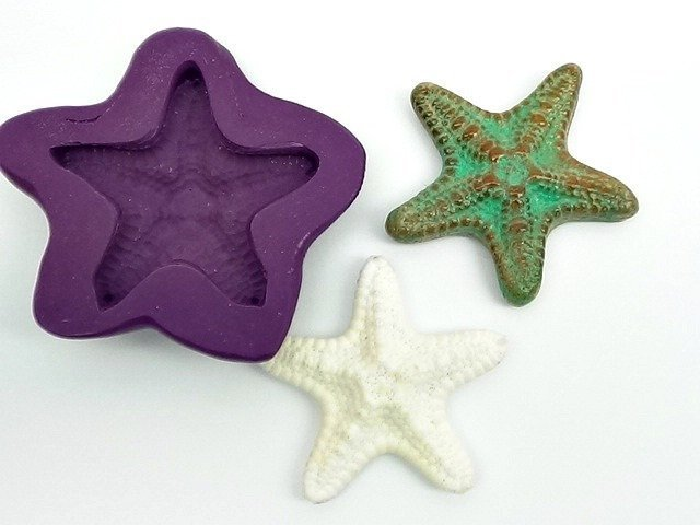 36 mm Starfish - Silicone Flexible Mold - for Polymer Clay, Resin, Porcelain,