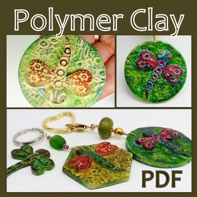 Polymer Clay  2 in 1 Combo Tutorial - Fish & Dragonfly Key chains - Digital PDF