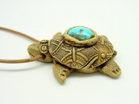 Sea and Land Turtle Pendants - Polymer Clay Tutorial - Digital PDF File Download