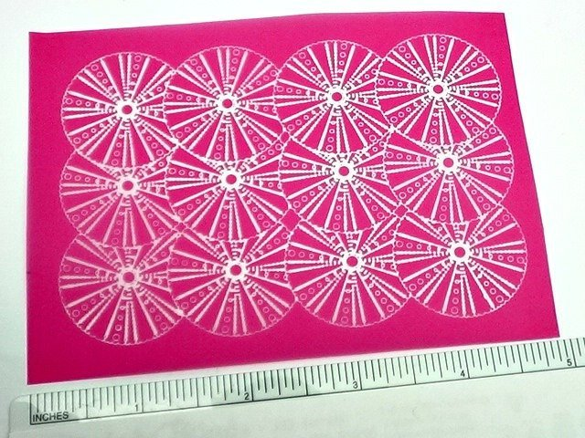 Beadcomber Silk Screen - Sea Urchin Silkscreen for polymer clay, porcelain,