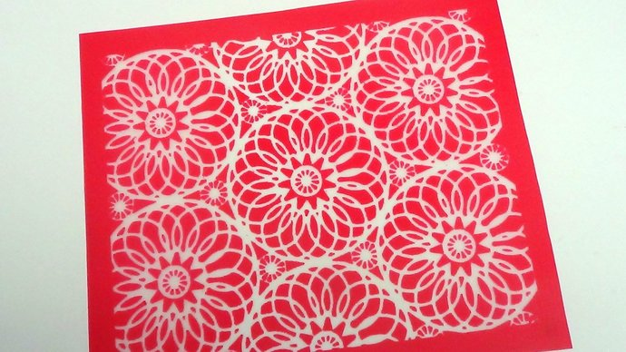 Beadcomber Silk Screen - Mandala Silkscreen for Polymer clay, Paper Crafts,