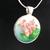 Pink flower pendant