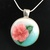 Pink Hibiscus pendant 3