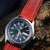 Red Lizard Leather Handmade Watch Strap Watch Band for 22mm Lug Watches