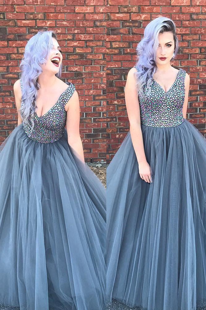 648fbc6fa73 Beading Prom Dress