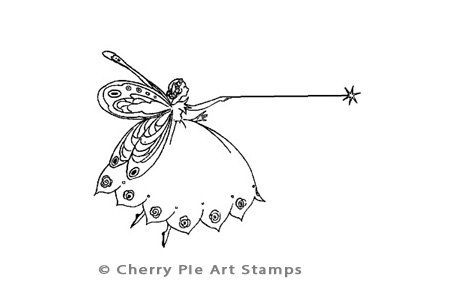 Copy of Little Magic Fairy - CLING STAMP for acrylic block by Cherry Pie D175