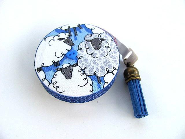 Measuring Tape Sheep on Blue  Retractable Tape Measure