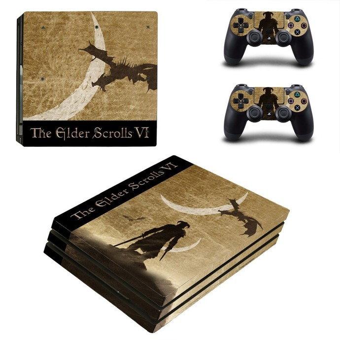 The Elder Scrolls 6 PS4 PRO edition skin Sticker decal Console and controllers