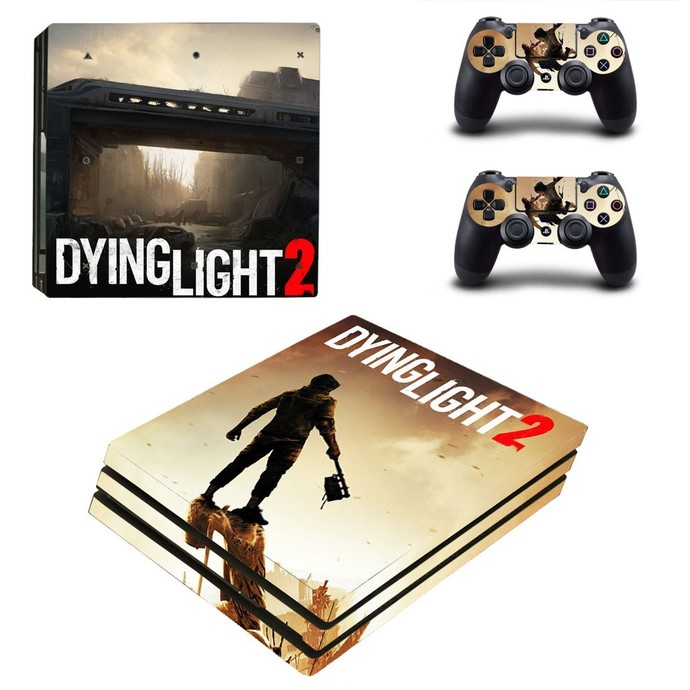 Dying Light 2 PS4 PRO edition skin Sticker decal Console and controllers