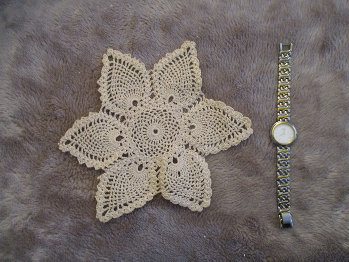 Vintage Star Crochet Doily - Please read description box!