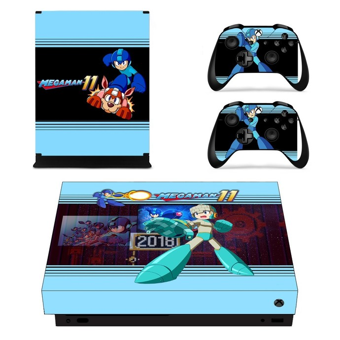 Mega Man 11  xbox one X skin decal for console and 2 controllers