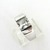 Sterling Silver Topaz Ring - Princess Cut Clear Topaz Modernist Ring