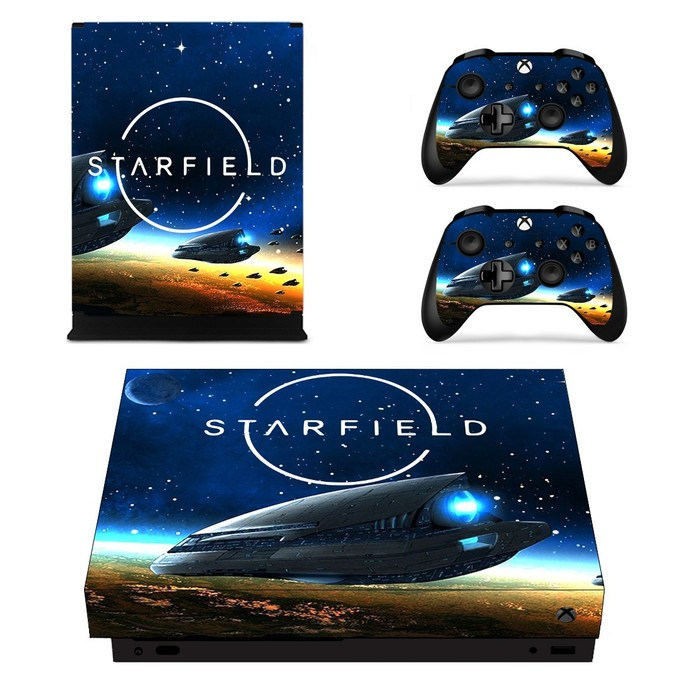 Starfield  xbox one X skin decal for console and 2 controllers