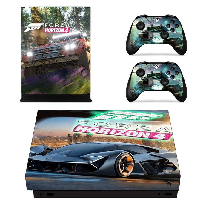 Forza Horizon 4  xbox one X skin decal for console and 2 controllers