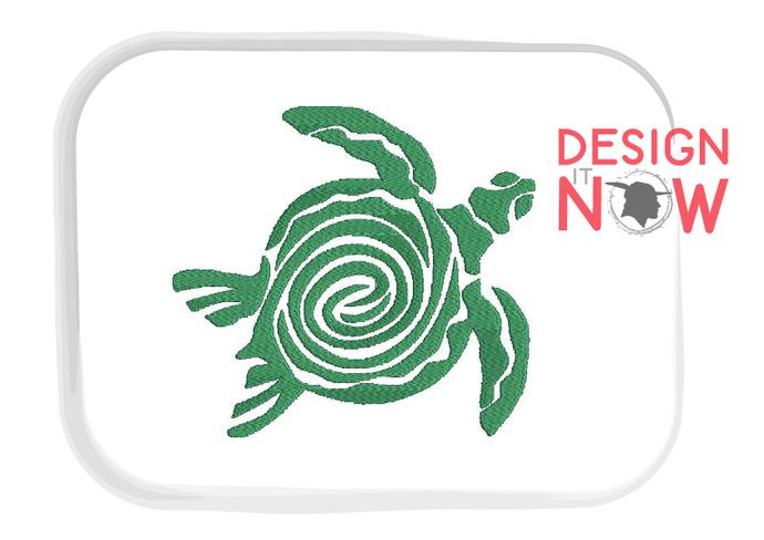 Machine Embroidery Design Turtle Sea Life - 5 Sizes