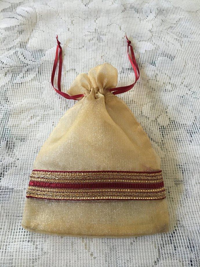 SET OF 8 Favor bags, Handmade,Potli Bags,Party Purse,shagan bags,
