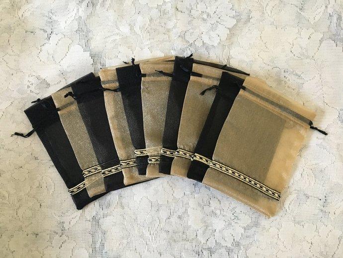 SET OF 10 Favor bags, Handmade,Potli Bags,Party Purse,shagan bags,