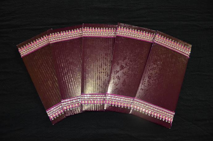 SET OF 5, Handmade Money Holder Set,Shagan Envelope,Indian Wedding,Money