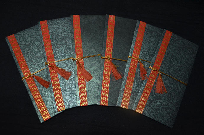 SET OF 6, Handmade Money Holder Set, Shagan Envelope, Indian Wedding,Money